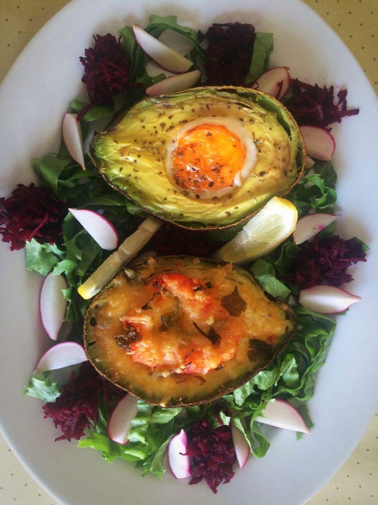 Salada de abacate no forno