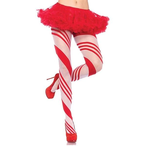 Amazon.com: Leg Avenue Women's Candy Cane Pantyhose, Red, One Size:... ($17) ❤ liked on Polyvore featuring intimates, hosiery, dolls, legs, leg avenue pantyhose, leg avenue hosiery, pantyhose hosiery, red hosiery and leg avenue