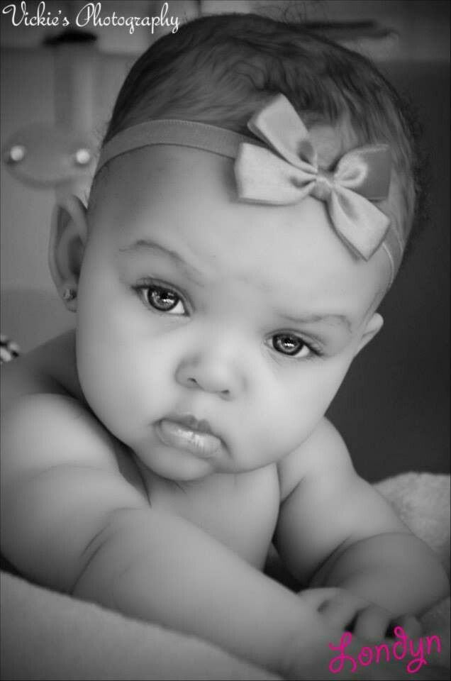 I think she has to be one of the most beautiful babies I have ever seen!!!The most amazingly beautiful eyes on such a beautiful baby wow!