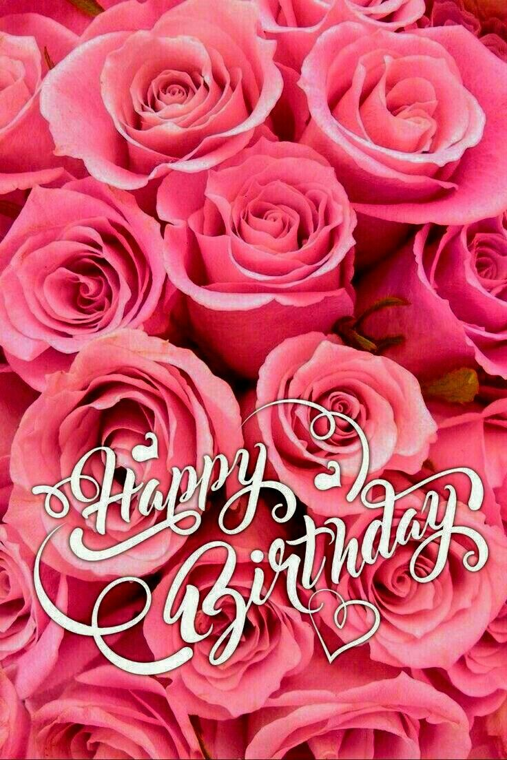Happy Birthday With Pink Roses Happy Birthday Niece Niece