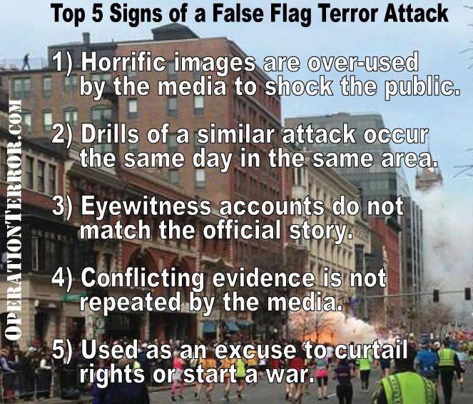 I really do not think today was a false flag but I think they do happen.
