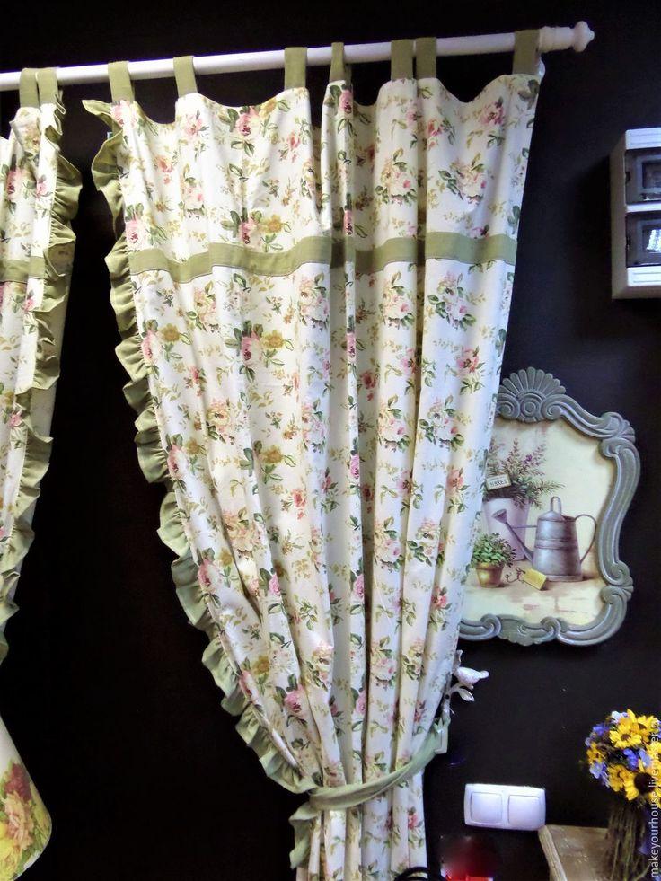 """Купить Шторы """" Прованс"""" - текстиль, шторы, шторы кухонные, лен, стиль прованс, кухня"""