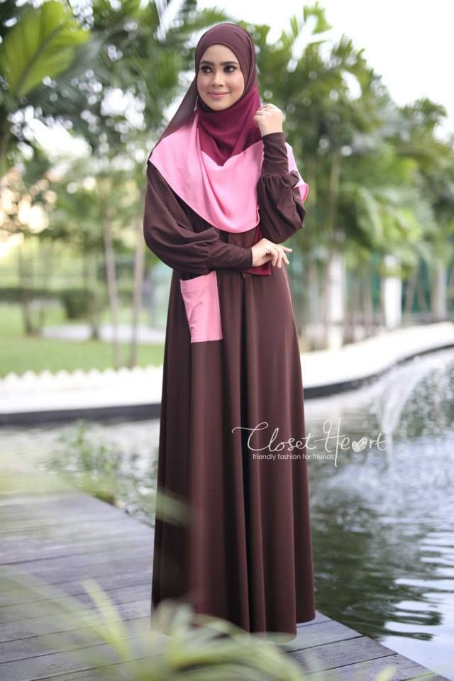 ALWANI JUBAH  CODE :CHJAL 181 AVAILABLE SIZE (S )  Color: Dark Brown pocket Dusty Pink Material: Moss Crepe Price: RM139 (exclude postage)  NUHA SHAWL (READY STOCK) Code: DHNH 003 Color: Dark Brown Maroon Peach  Material: Georgette Chiffon  Price: RM65 (exclude postage)  *kindly PM us to purchase. tqvm