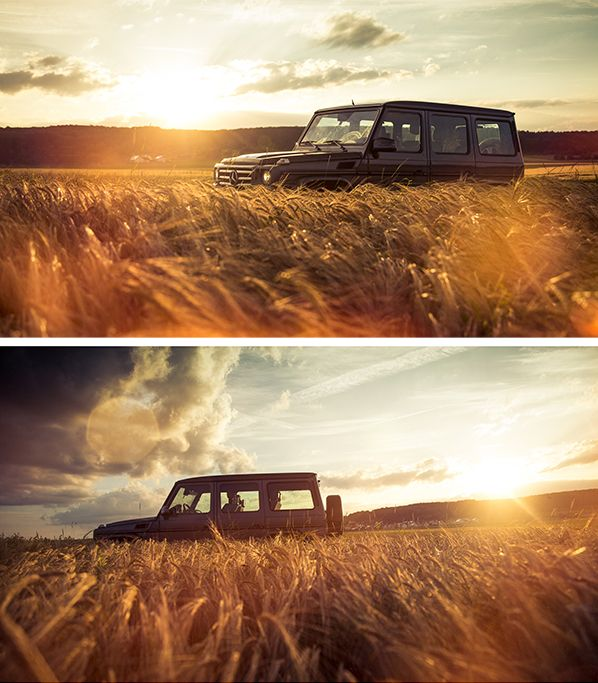 In the fields of gold with the Mercedes-Benz G-Class. Photos by Johannes Glöggler for #MBsocialcar