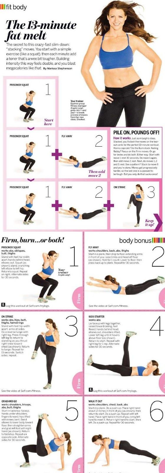 The 13-minute fat melt Get yourself in the best shape of your life with www.gymra.com. Get your free month now!!! #fitness #exercise #weightloss #diet #fitspiration #fitspo #health www.gymra.com/...