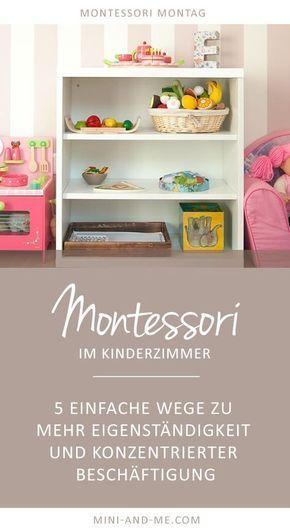 Montessori basics im kinderzimmer 5 wege zu mehr for Aufbewahrungsideen kinderzimmer