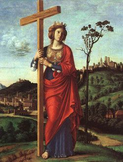 St. Helena-mother of Emperor Constantine the Great. She is traditionally credited with finding the relics of the True Cross,