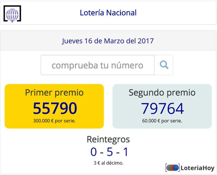Lotería Nacional | Sorteo del #Jueves 16 de #Marzo de 2017 Comprobar décimo !! #Loteria #LoteriaNacional