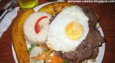 """There is a very particular and delicious way to prepare steaks in Peru. Try the """"Bistec a lo Pobre"""" and you will understand what we are tal..."""