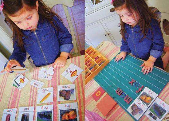 Aprender a escribir con Montessori