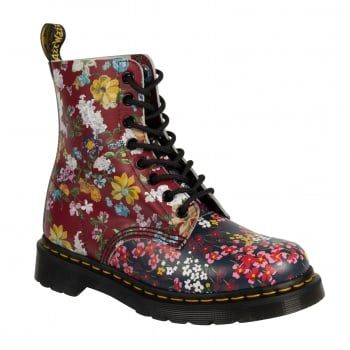 This is a Goodyear - welted construction. The upper and the sole are sewn together, not just glued, like many inferior products. These Modern Classic Pascal 8 Eyelet Boots, with their lovely floral printed upper have never been as popular. They are certainly the boots a girl needs to be seen out in this Summer. http://www.marshallshoes.co.uk/womens-c2/dr-martens-womens-pascal-floral-mix-backhand-8-eye-boot-22392102-p4482