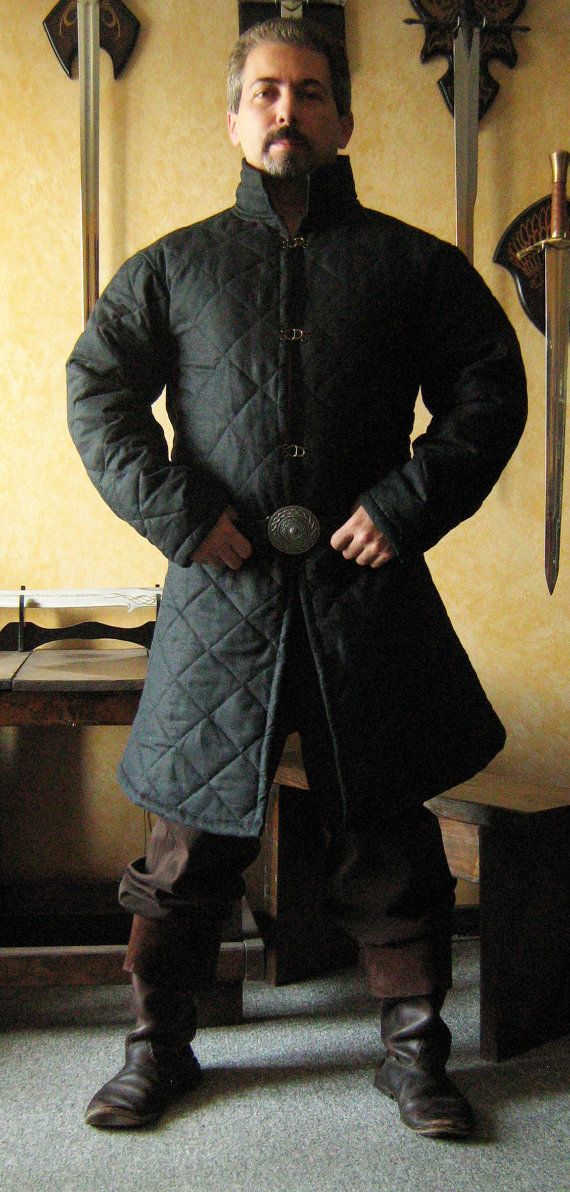 Medieval Celtic Viking Armor Padded Gambeson Long Sleeves with Collar