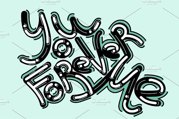 Lettering illustration by TSAPLYA on @creativemarket #lettering #graphic #design #creative #market #typography #calligraphy #illustration #creativemarket