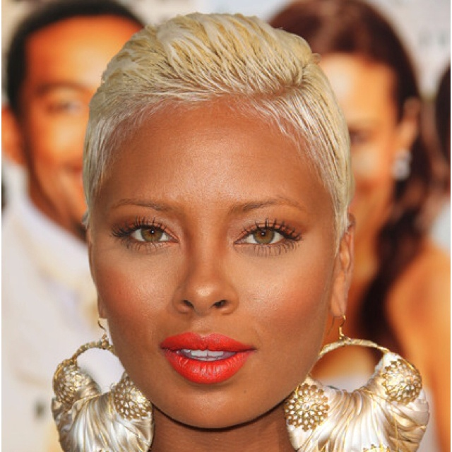 Eva Marcille Platinum Blonde Pixie African American Hairstyle Name With Images