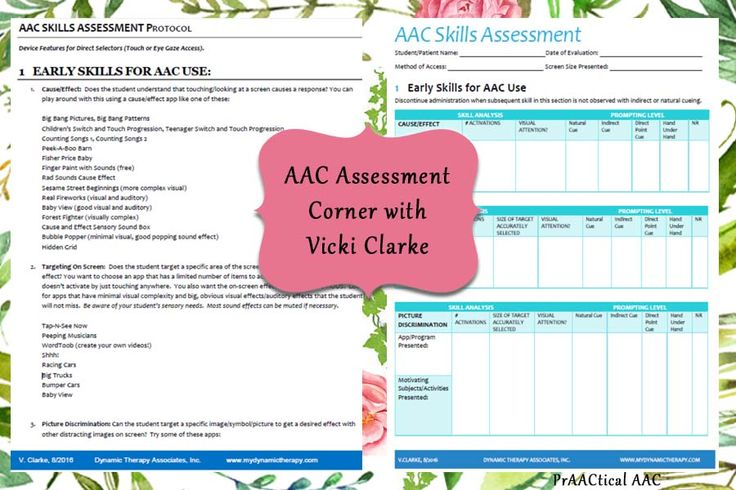 AAC Assessment Corner with Vicki Clarke