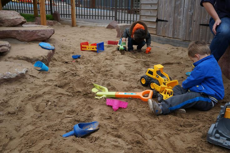 Lots of serious sand moving in the large sand pit today.
