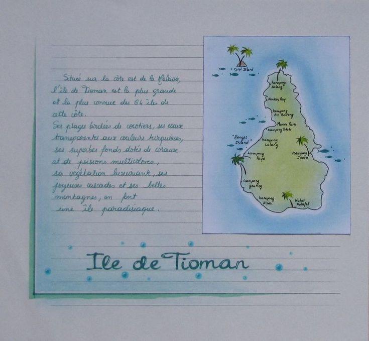 Ile de TIOMAN + 1 page