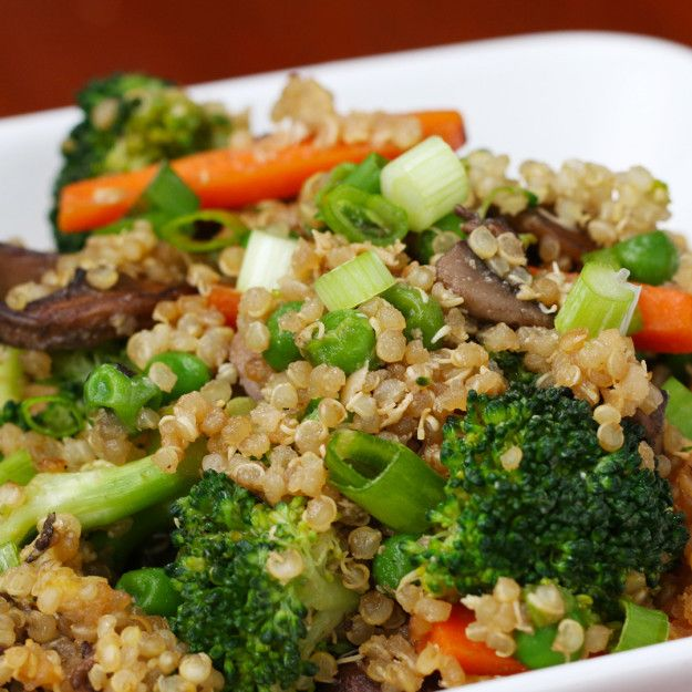 """Quinoa Fried Rice 