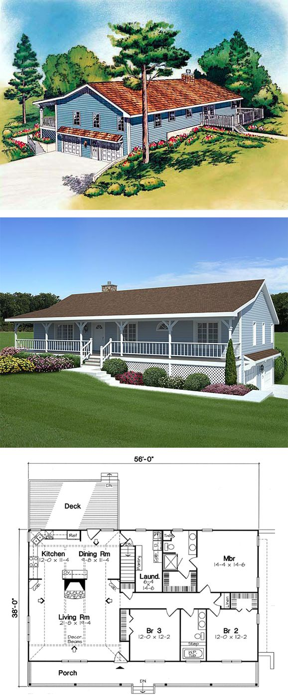 Hillside homeplan 20198 this economical home sweet for Homeplan com
