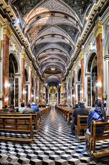 Interior of Salta Cathedral, Salta, Argentina by dleiva