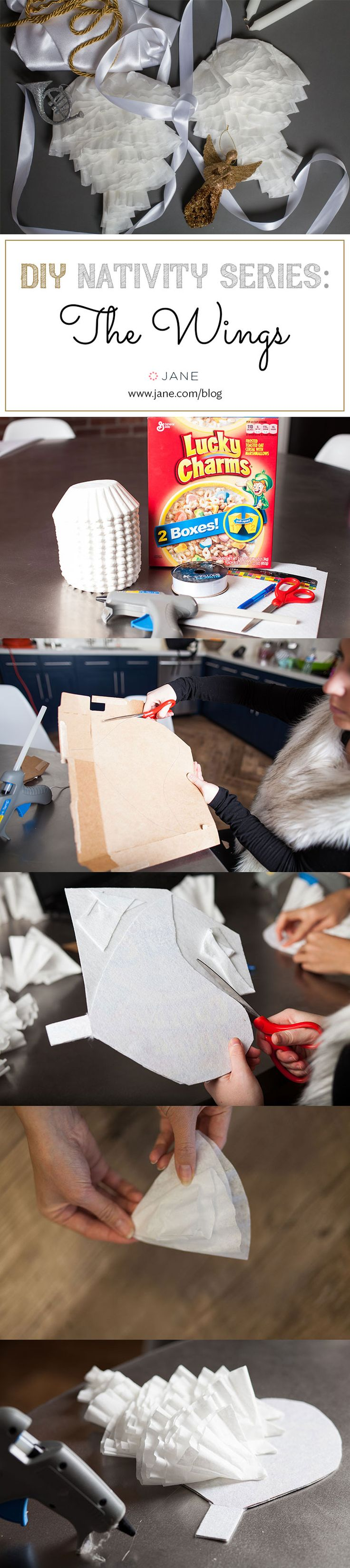 DIY Angel Wings for a Nativity Christmas Angel Costume! ~ Tutorial on the #VeryJane Blog