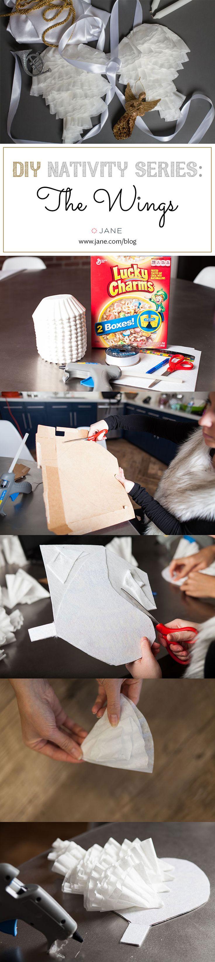 DIY Angel Wings for a Nativity Christmas Angel Costume! ~ Tutorial on the #VeryJane Blog