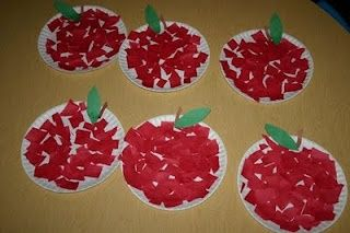 """Excellent fine motor activity for the beginning of the school year!! Definitely adding it to my lesson plans...titled """"Everything Apples"""""""