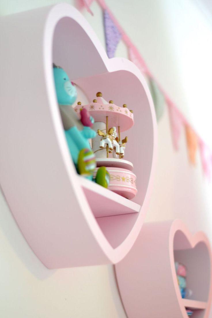 Köp Alice & Fox Bokhylla Hjärta 3-p Rosa | Barnrummet Barnmöbler | Jollyroom