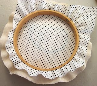 Finish a Hoop with a Different Back Material! (Hides work on back of embroidery.) - great idea, must try it!