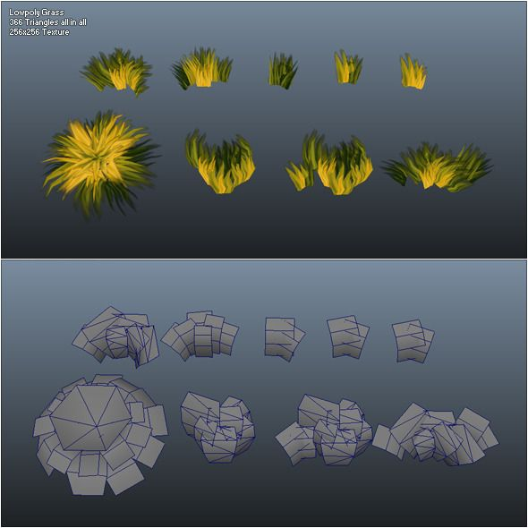 low poly grass 3ds max animation - Google Search
