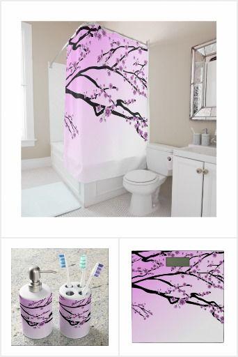 Cherry Blossom Pink Bathroom