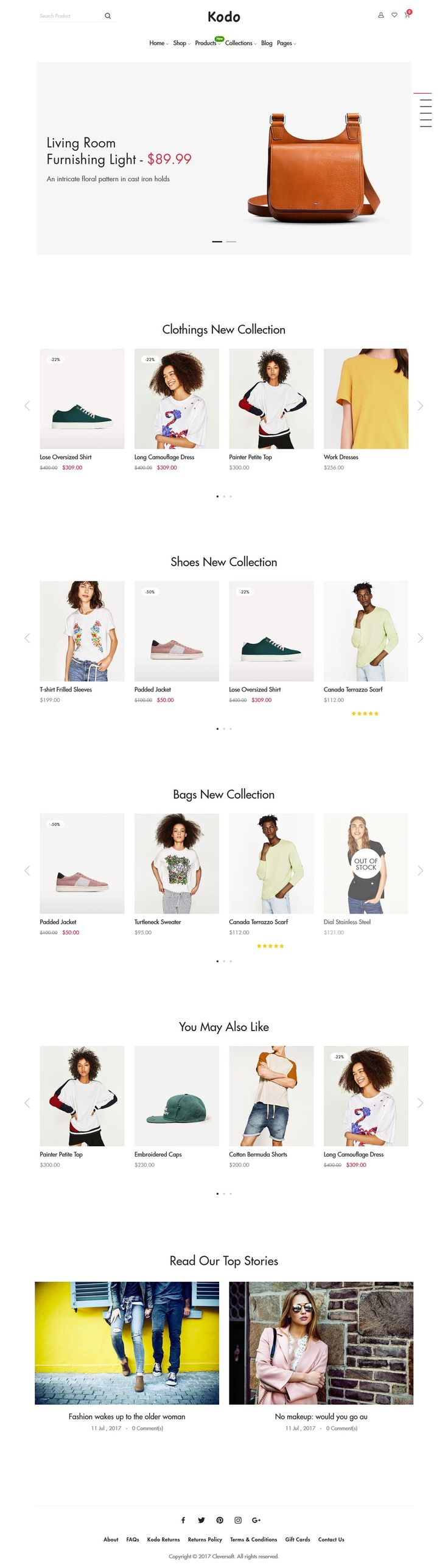 Kodo is clean, stylish and modern design responsive #Shopify theme for stunning #eCommerce website with 11 niche homepage layouts download now..
