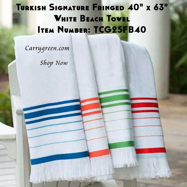 Turkish Signature Fringed 40 Striped Towels Towel Beach Towel