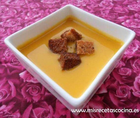 Crema de Calabaza hecha con la thermomix #recetas #sopas #thermomix