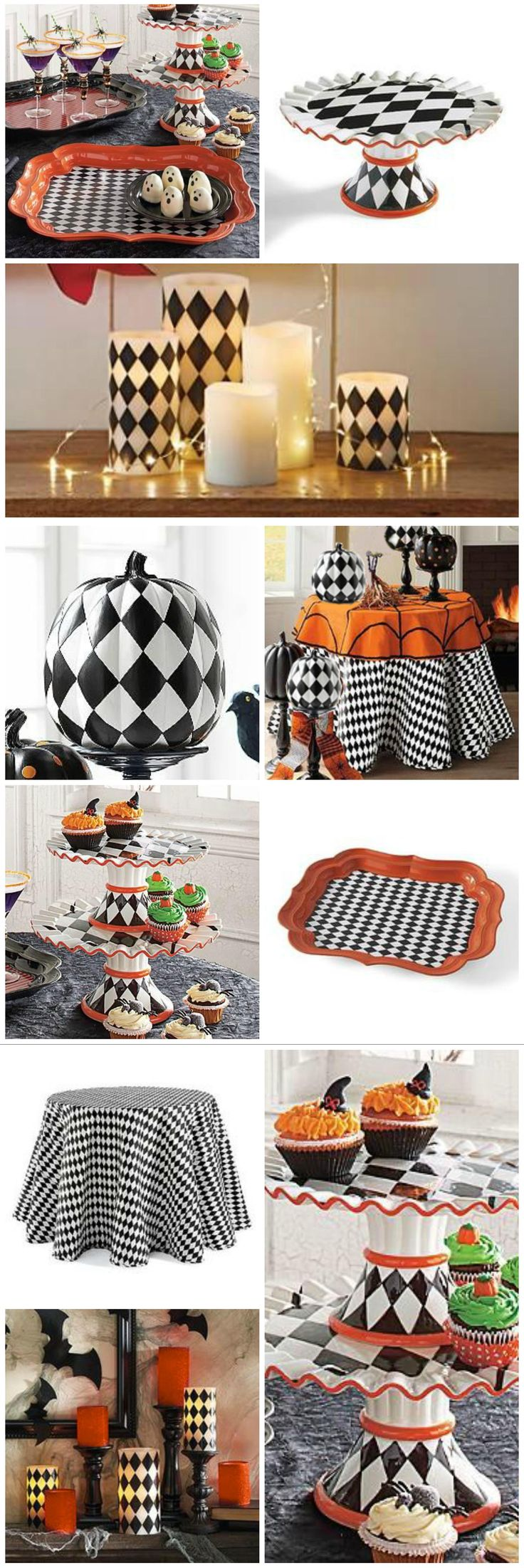 285 best Festive Harlequin Fête Halloween Party Decorating & Ideas ...