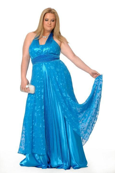 brilliant blue plus size dress