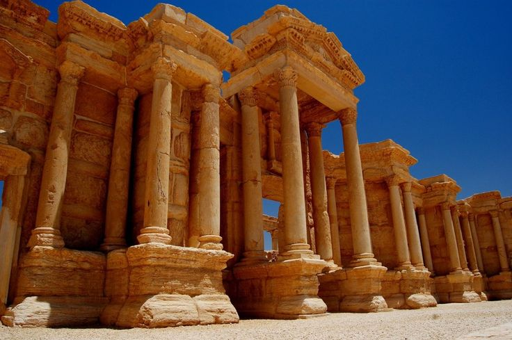 30 of the World's Most Impressive Ancient Ruins : Palmyra (Syria)   134 miles northeast of Damascus, Palmyra was an ancient Aramaic city located at an oasis. The city's most notable building is the temple of Ba'al.