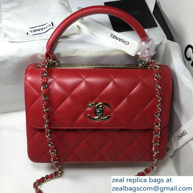 bbcb8979050f Chanel Trendy CC Small Flap Top Handle Bag A92236 red/silver 2017_2803114912