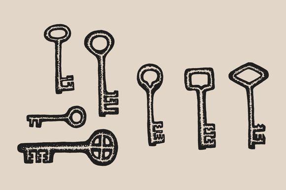Key Drawings by Feanne on @creativemarket