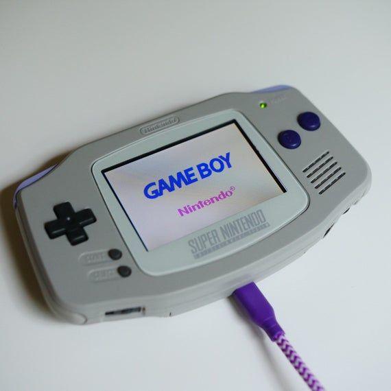 Super Nintendo Style Custom Gba Backlit Rechargeable Mod Etsy Super Nintendo Gameboy Nintendo Handheld
