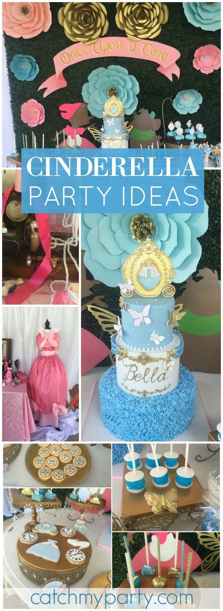 This lovely Cinderella birthday has excellent ideas for themed party foods! See more party ideas at http://CatchMyParty.com!