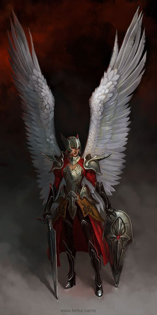 Angel - concept by Maria Trepalina, via Behance