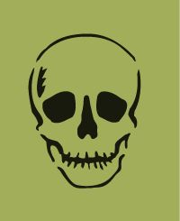 skull stencils | Option 2: Extra thickness for added durability and embossment (+ $4.95 ...