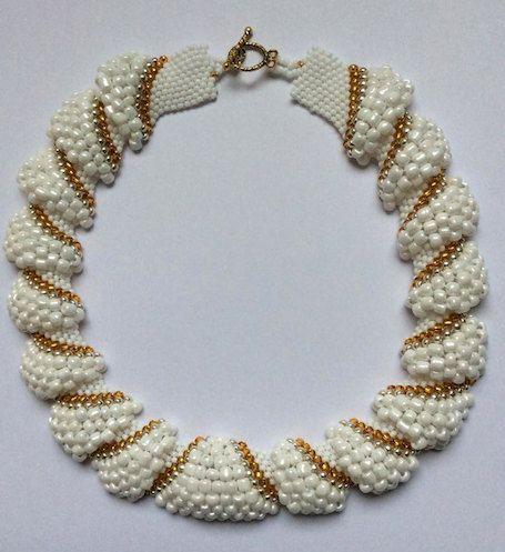 Parel / Kralen Halsketting - Wit - Handgemaakt - Juwelen Vrouwen - Kleurrijk - Elegant