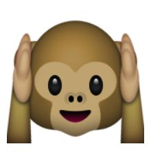 entendre - pas - mal singe