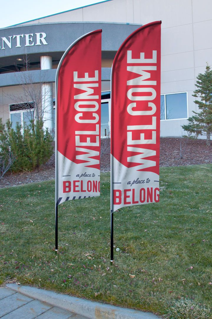 To Belong Red Banner Outreach Church Interior Design Church Design Church Banners