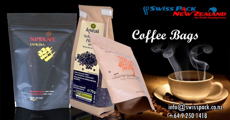 @swiss_pack has been a reliable partner in the development and production of #Flexiblepackagingsolutions for the #Coffee industry.  Our #CoffeeBags are available in various unique and innovative styles including : #Standuppouches #Coffeebags ,#Gussetedbags #Flatbottompouches and Many more.  Click here For More Infromation : www.swisspack.co.nz/coffee-bags/