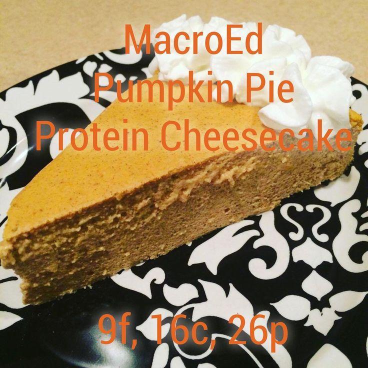 MacroEd Pumpkin Pie Protein Cheesecake