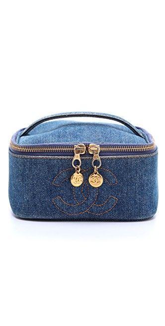 WGACA Vintage Vintage Chanel Denim Cosmetic Case | SHOPBOP SAVE UP TO 30% Use Code: MORE17