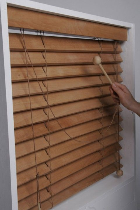 Beat Blinds, xylophone window blinds. Put a little sound in your sill! These wooden window blinds have a secondary purpose as a musical instrument. Beat Blinds encourage children to embrace the world of music.